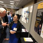 Congressman Jack Bergman, Michigan's 1st District and home to Michigan Technological University, discusses research with Assistant Professor Sun.