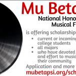 Mu Beta Psi Music Service Scholarship