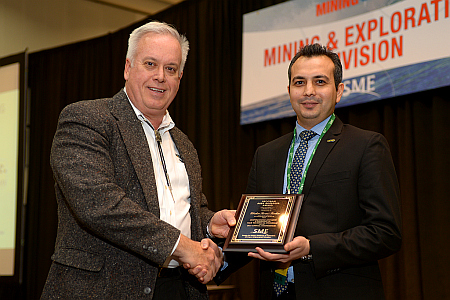 Dr. Ebrahim Tarshizi, the faculty of Mining Engineering, has received the Program Area Manager Award by the Society for Mining, Metallurgy and Exploration (SME)