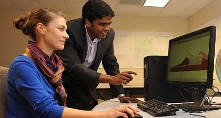 Lauren N. Schaefer, 2015 Marliave Scholar and Dr. Thomas Oommen