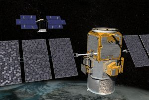 CloudSat and CALIPSO Pairing showing illustrations of two satellites