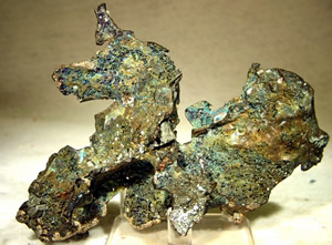 Example of silver and copper from the White Pine mine.