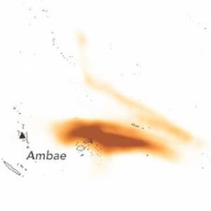 Ambae Sulfur Dioxide plume