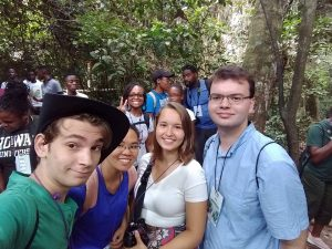 Group selfi on the way up to the canopy walk (PC: Charles)