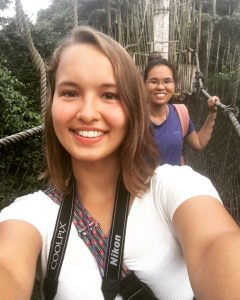 Sonja and Lianne on one of the suspension bridges at the canopy walk.