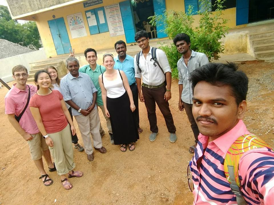 The India team with R. Elango and his intern at Kunnankulathur prior to leaving.