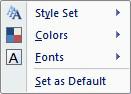 "The ""Change Styles"" menu."