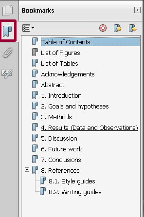 how to bookmark a page on adobe pdf reader