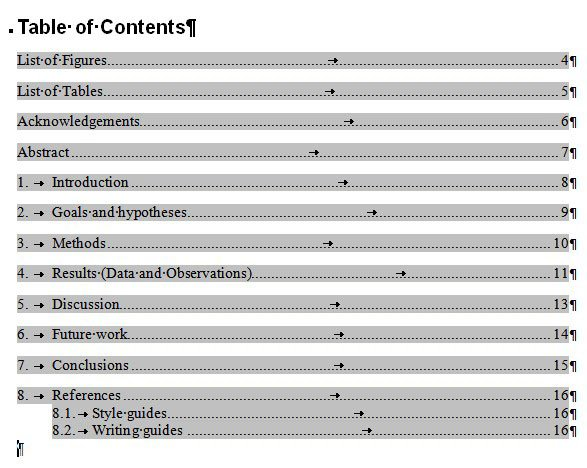 How To Create A Hyperlinked Table Of Contents | Graduate School
