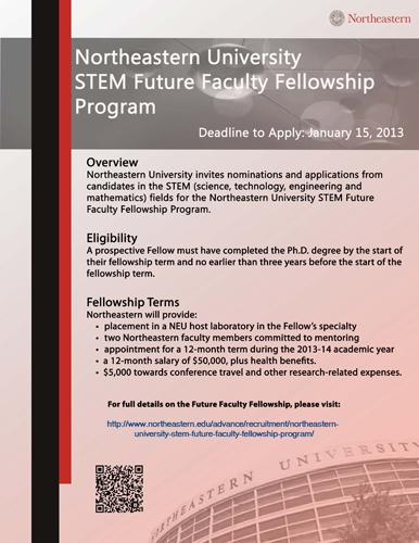 Northeastern university dissertation completion fellowship