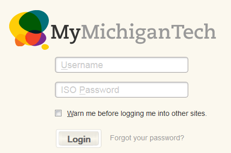 Picture of MMT log in