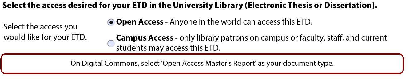 Open Access option.
