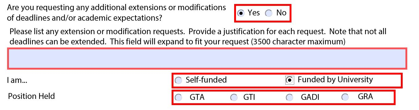 Providing details of modification or extension and the source of funding.