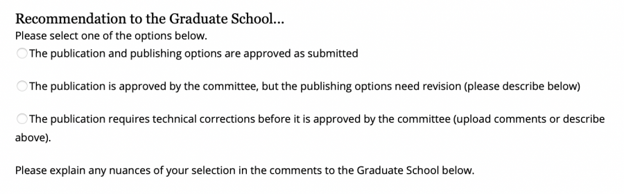 Screenshot of the recommendations available for your student's work.