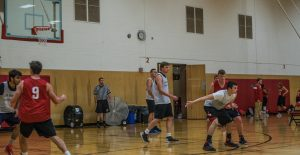 Aaron competing with the Michigan Tech Basketball Club in the Bucky Classic Tournament at the University of Wisconsin - Madison