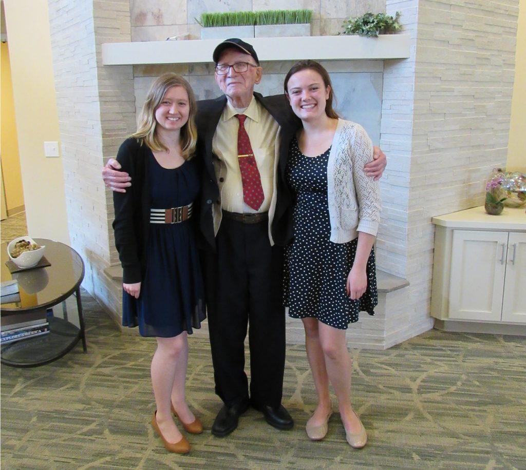 Erin Richie and Nicole Mackey with PHC benefactor Frank Pavlis in Allentown, PA.