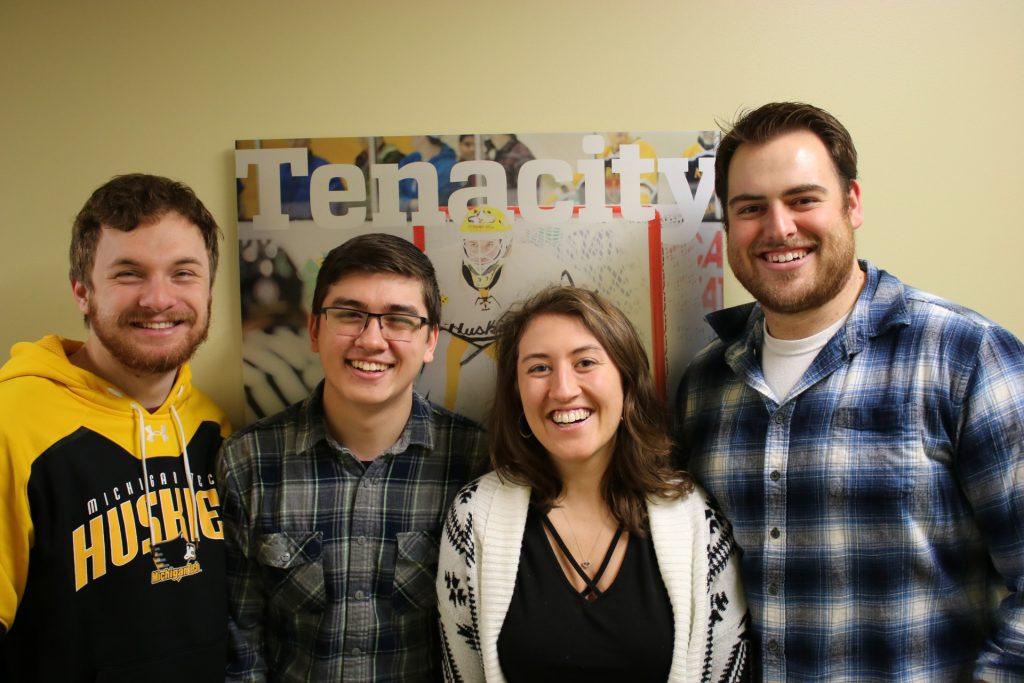 From left to right: Patrick, Michael, Rachel, Ryan