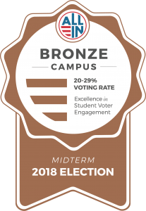 All-In challenge bronze award for 20-29% voting rate