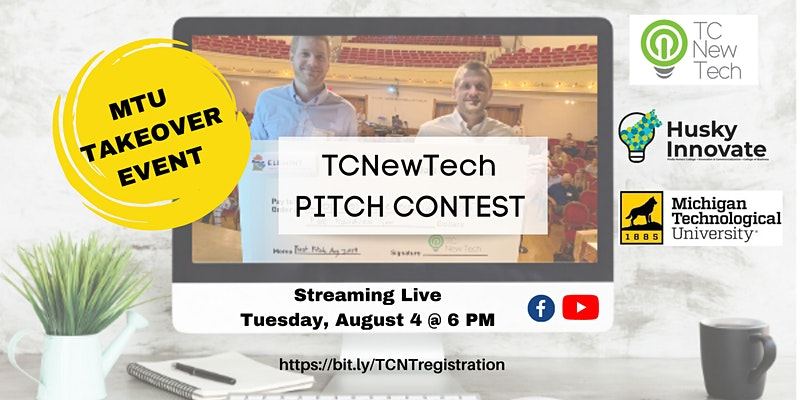 TCNewTech Pitch Contest, streaming live on Tuesday, August 4 at 6 p.m.