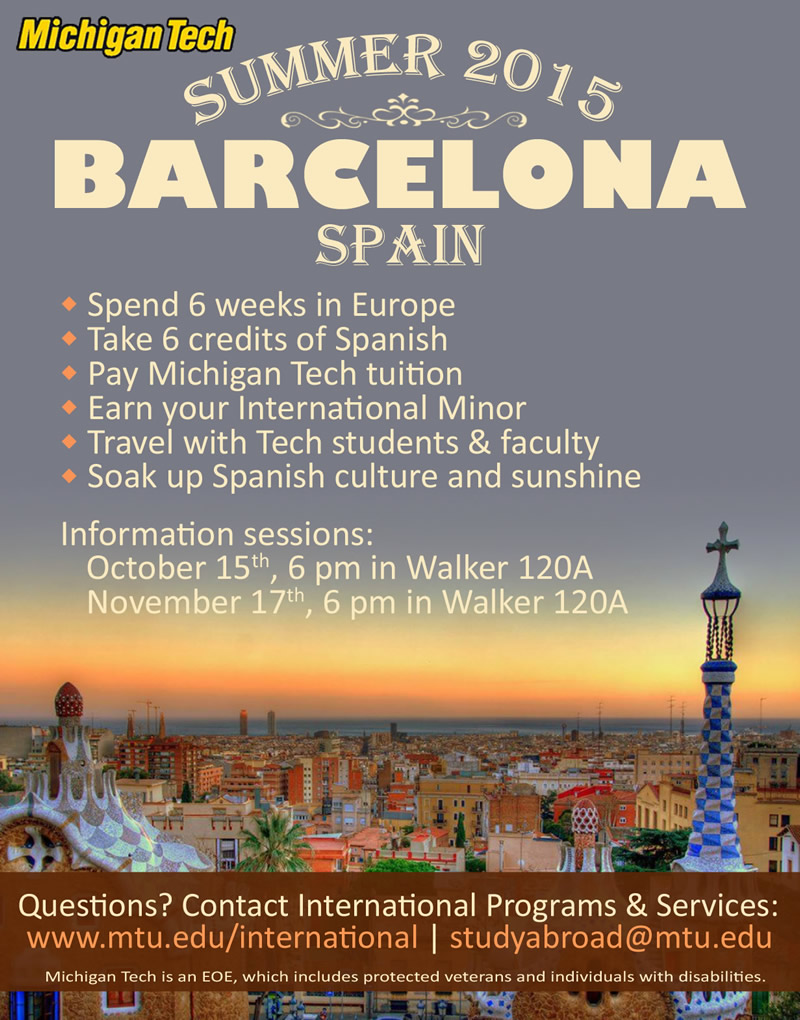Faculty Led Study Abroad Barcelona Humanities