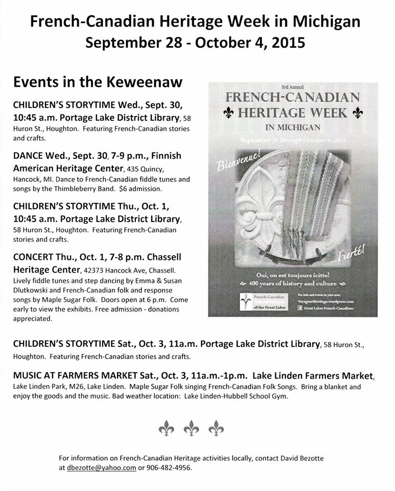 French-Canadian Heritage Week in Michigan | Humanities