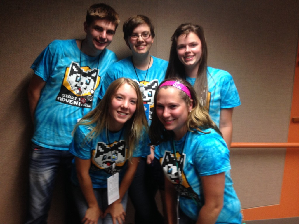 Front: Julia Weiss, Rachel Nankervis; Back: Dalton Shoebridge, Stephanie Hubble, Becca Forsberg