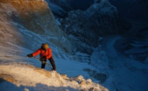 A shot from Jimmy Chin's film, Meru.