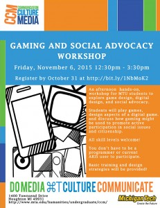 Gaming and Social Advocacy Workshop