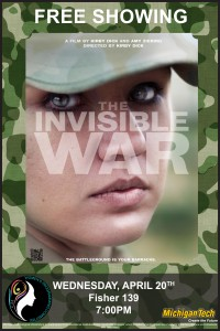 Free Screening Wednesday, April 20th @ 7pm; Fisher 139 The documentary highlights the epidemic of rape within the US military. There will be a facilitated discussion held after the conclusion of the film.