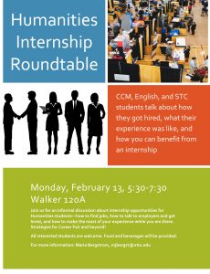 Microsoft Word - Humanities Internship Roundtable.docx