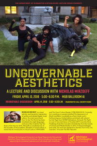 Event poster for Nicholas Mirzoeff Lecture
