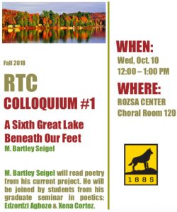 Poster for the Fall 2018 RTC Colloquium