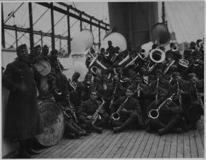 Marching band from world war one