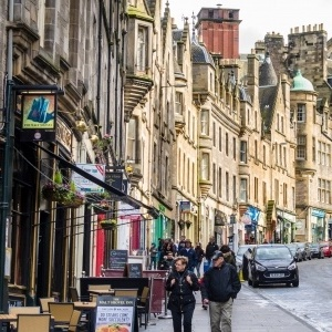 Street scene in Edinburgh