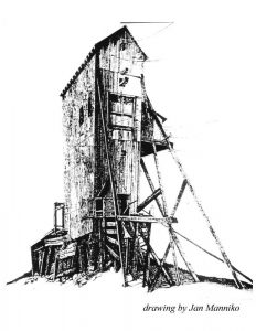 Illustration of the Quincy Mine Shaft