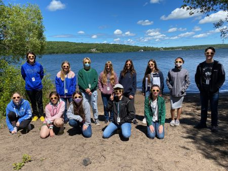 The Class of Writers poses at Prince's Point on the Portage