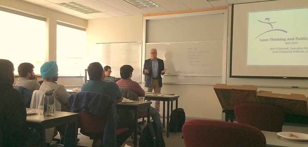 Guest speaker John O'Donnell from the Lean Enterprise Institute