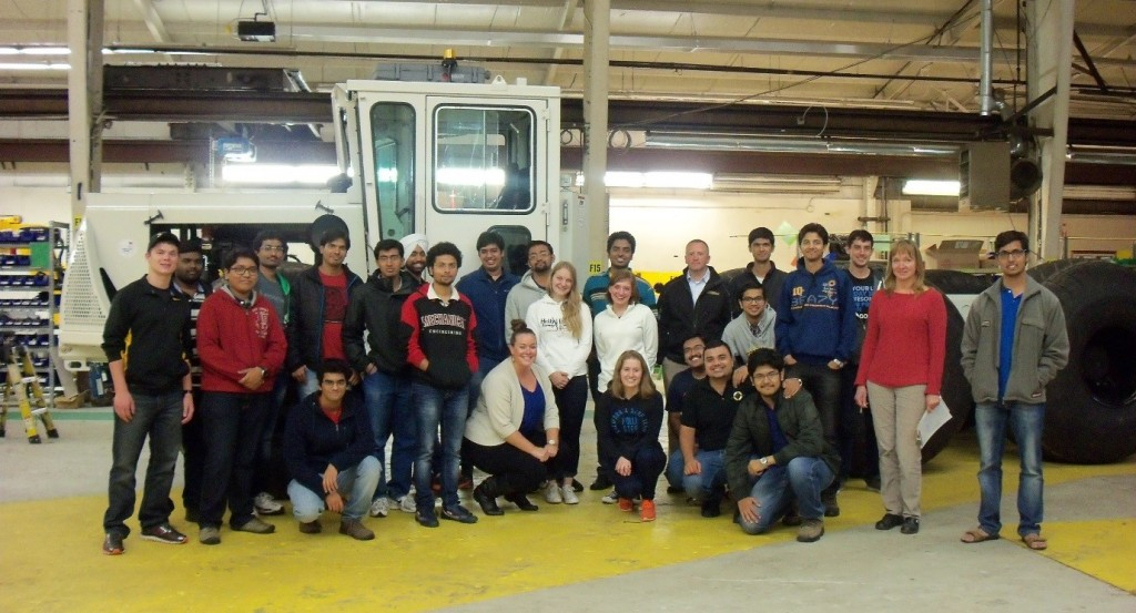 LCI student organization on a facility tour at Pettibone in Baraga, Michigan