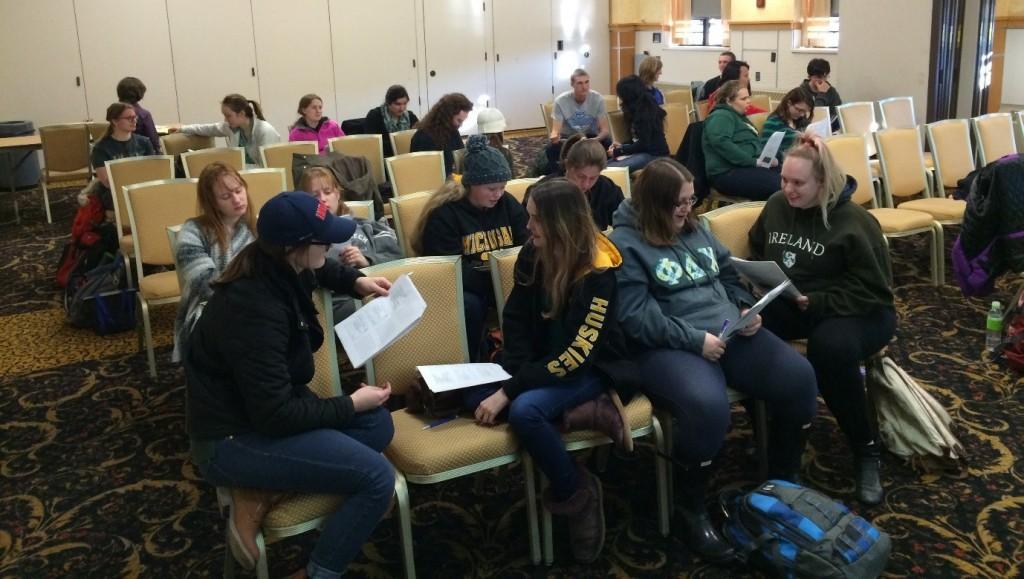 Students at a Lean leadership workshop
