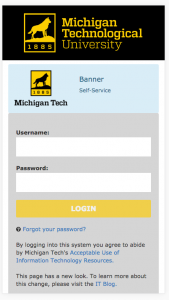 The look of the new web services login page on a mobile device