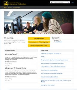 Michigan Tech IT online support center