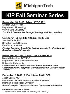 KIP Fall 2016 Seminar Series