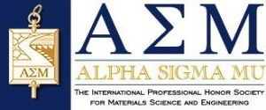 The logo of Alpha Sigma Mu.
