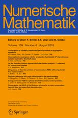 Cover of Numerische Mathematik journal
