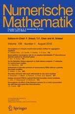 Cover of Numerische Mathematik journal