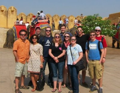 The group toured the Amber Fort before leaving Jaipur on Tuesday March 12th to Agra.