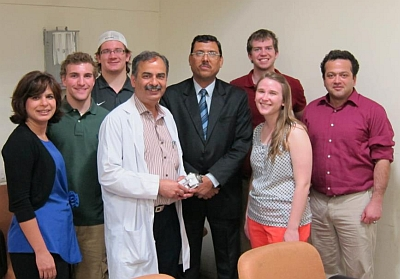 On Thursday March 14th, Michigan Tech's senior capstone design teams 7 and 8 visited All India Institute of Medical Science in New Delhi and Team 8 presented their new prosthetic knee prototype to Dr. Malhotra. Dr Malhotra was impressed wit...h the design concept and expressed the design can lead to a viable and inexpensive prosthesis for below poverty line patients in India. The group was scheduled to meet with orthotic and prosthetic experts on Saturday March 16th to get detail technical feedback.