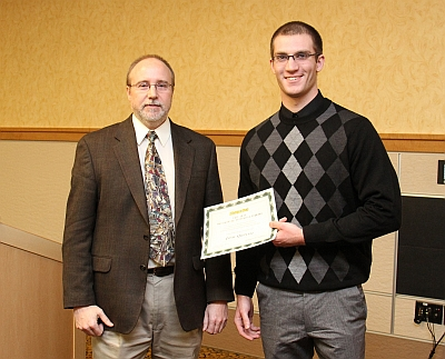 Josh Quintel: Mechanical Engineering Senior Awards Banquet December 2013.