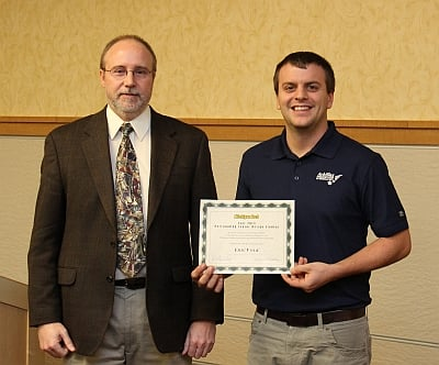 Eric Volk:Mechanical Engineering Senior Awards Banquet December 2013