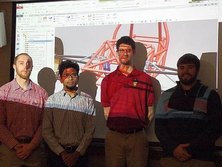 2nd Place: Car Assembly,  Benaglio, Kristopher R. Hamina, Karl G. Hamlin, Hunter A. Pathak,Abhishek